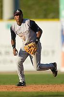 Asheville second baseman Daniel Mayora (14) on defense versus Kannapolis at Fieldcrest Cannon Stadium in Kannapolis, NC, Sunday, April 29, 2007.