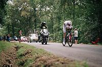 Tom Dumoulin (NED/Sunweb) on his way to winning the TT<br /> <br /> Stage 20 (ITT): Saint-Pée-sur-Nivelle >  Espelette (31km)<br /> <br /> 105th Tour de France 2018<br /> ©kramon