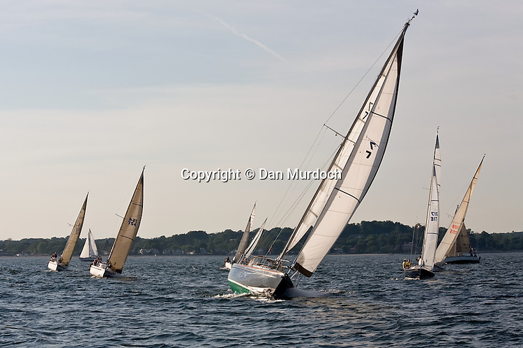 racing sailboats