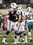 Dallas Cowboys tight end Jason Witten (82) and Dallas Cowboys kicker Dan Bailey (5) in action during the Thanksgiving Day game between the Miami Dolphins and the Dallas Cowboys at the Cowboys Stadium in Arlington, Texas. Dallas defeats Miami 20 to 19...