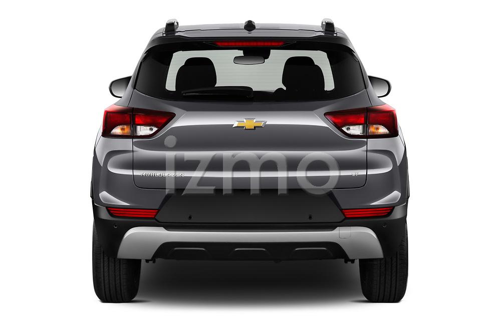 Straight rear view of 2021 Chevrolet Trailblazer LT 5 Door SUV Rear View  stock images