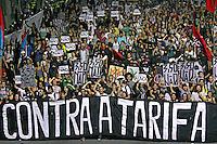 Manifestação conta o aumento da tarifa dos transportes. Movimento Passe Livre, MPL. Sao Paulo. 2015. Foto de Lineu Kohatsu.
