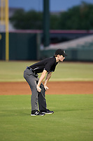 Umpire Nathan Diederich handles the calls on the bases during the AZL White Sox and AZL Angels game on August 14, 2017 at Diablo Stadium in Tempe, Arizona. AZL Angels defeated the AZL White Sox 3-2. (Zachary Lucy/Four Seam Images)