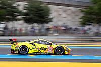 #57 Kessel Racing Ferrari 488 GTE EVO LMGTE Am, Takeshi Kimura, Scott Andrews, Mikkel Jensen, 24 Hours of Le Mans , Free Practice 1, Circuit des 24 Heures, Le Mans, Pays da Loire, France