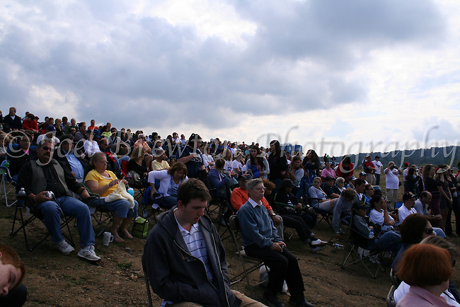 Thousands of people descended upon Shanksville, PA to pay their repsects on the tenth anniversary of the 9/11 attacks.