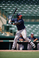 GCL Braves Mason Berne (20) at bat during a Gulf Coast League game against the GCL Orioles on August 5, 2019 at Ed Smith Stadium in Sarasota, Florida.  GCL Orioles defeated the GCL Braves 4-3 in the second game of a doubleheader.  (Mike Janes/Four Seam Images)