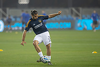 SAN JOSE, CA - SEPTEMBER 13: Emiliano Insua #3 of the L.A. Galaxy during warm ups during a game between Los Angeles Galaxy and San Jose Earthquakes at Earthquakes Stadium on September 13, 2020 in San Jose, California.