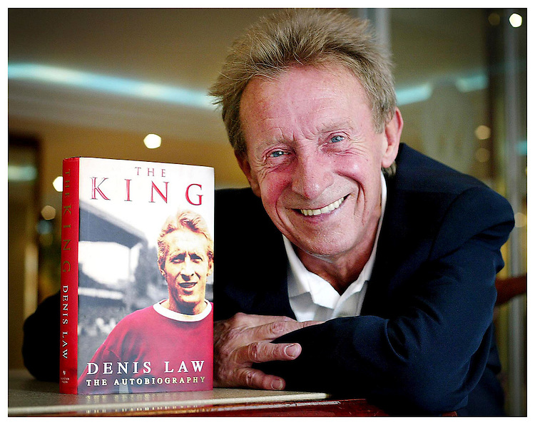 """Former Scottish and Manchester United Legend Denis Law, pictured here in Dublin promoting his autobiography """"The King"""". Pic. Robbie Reynolds."""