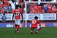 Dejected Albie Morgan of Charlton Athletic FC during Charlton Athletic vs Cheltenham Town, Sky Bet EFL League 1 Football at The Valley on 11th September 2021