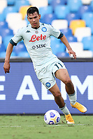 Hirving Lozano of SSC Napoli<br /> during the friendly football match between SSC Napoli and Pescara Calcio 1936 at stadio San Paolo in Napoli, Italy, September 11, 2020. <br /> Photo Cesare Purini / Insidefoto
