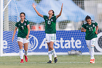 Bradenton, FL - Sunday, June 12, 2018: Nayeli Diaz, goal celebration, Alison Gonzalez, Natalia Mauleon during a U-17 Women's Championship Finals match between USA and Mexico at IMG Academy.  USA defeated Mexico 3-2 to win the championship.