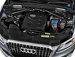 High angle engine detail of a  2013 Audi Q5