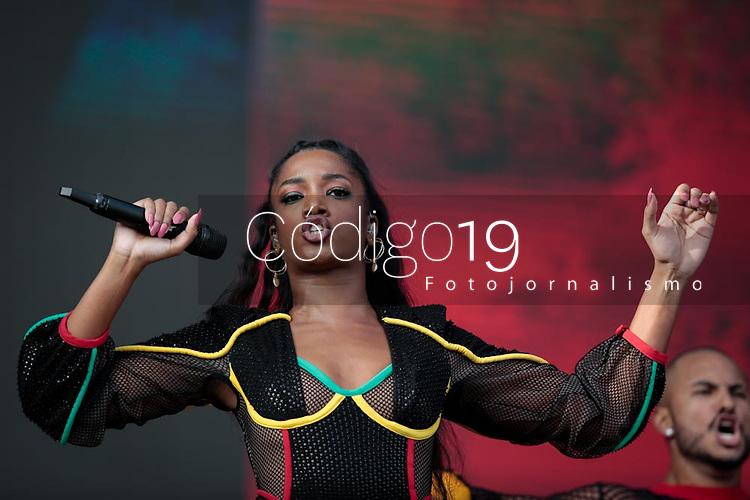 SAO PAULO, SP 07.04.2019: LOLLAPALOOZA-SP - Show com Iza. Lollapalooza Brasil 2019, que acontece de 05 a 07 de abril no Autodromo de Interlagos, zona sul da capital paulista. (Foto: Ale Frata/Codigo19)