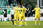 Hibs v St Johnstone…18.11.17…  Easter Road…  SPFL<br />Murray Davidson and Steven MacLean celebrate at full time<br />Picture by Graeme Hart. <br />Copyright Perthshire Picture Agency<br />Tel: 01738 623350  Mobile: 07990 594431