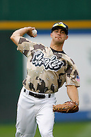 Chris Pettit of the Ranch Cucamonga Quakes during a California League baseball game on July 22, 2007 at The Epicenter in Rancho Cucamonga, California. (Larry Goren/Four Seam Images)