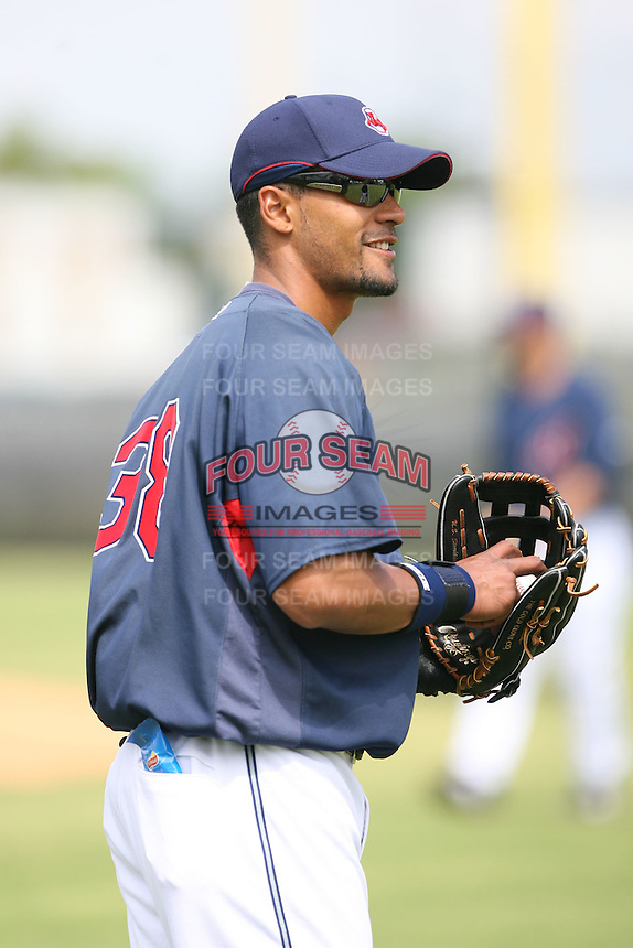 March 20th 2008:  Franklin Guitierrez of the Cleveland Indians during a Spring Training game at Chain of Lakes Park in Winter Haven, FL.  Photo by:  Mike Janes/Four Seam Images