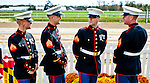 LAUREL, MARYLAND - OCTOBER 22: Marines watch the races on Maryland Million Day at Laurel Park on October 22, 2016 in Laurel, Maryland. (Photo by Scott Serio/Eclipse Sportswire/Getty Images)