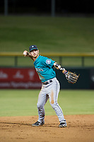 AZL Mariners shortstop Louis Boyd (2) on defense against the AZL Cubs on August 4, 2017 at Sloan Park in Mesa, Arizona. AZL Cubs defeated the AZL Mariners 5-3. (Zachary Lucy/Four Seam Images)