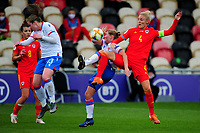 Sophie Ingle of Wales Women's in action during the UEFA Women's EURO 2022 Qualifier match between Wales Women and Faroe Islands Women at Rodney Parade in Newport, Wales, UK. Thursday 22 October 2020