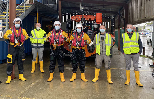Union Hall RNLI's volunteer lifeboat and station crew for the callout on Friday 14 May