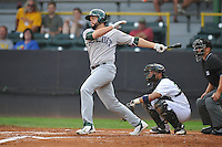 Beloit Snappers Michael Soto (13) swings during the Midwest League game against the Clinton LumberKings at Ashford University Field on June 11, 2016 in Clinton, Iowa.  The LumberKings won 7-6.  (Dennis Hubbard/Four Seam Images)