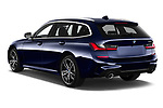 Car pictures of rear three quarter view of 2020 BMW 3-Series M-Sport 5 Door Wagon Angular Rear