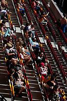5th June 2021; Brentford Community Stadium, London, England; Gallagher Premiership Rugby, London Irish versus Wasps; Both London Irish fans and Wasps fans keeping a social distance