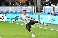 SAN JOSE, CA - FEBRUARY 29: San Jose Earthquakes goalkeeper Daniel Vega #17 during a game between Toronto FC and San Jose Earthquakes at Earthquakes Stadium on February 29, 2020 in San Jose, California.