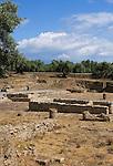 Italy, Calabria, near Catanzaro Lido: archeological excavation Parco Archeologico di Scolacium - Forum Romanum