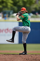 Down East Wood Ducks starting pitcher Mason Englert (24) in action against the Kannapolis Cannon Ballers at Atrium Health Ballpark on May 9, 2021 in Kannapolis, North Carolina. (Brian Westerholt/Four Seam Images)