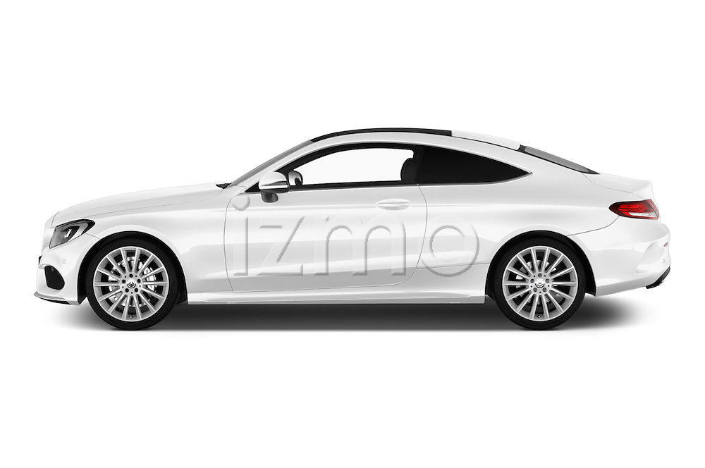 Car Driver side profile view of a 2016 Mercedes Benz C-Class Sportline 2 Door Coupe Side View