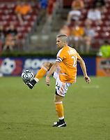 Houston Dynamo defender Wade Barrett (24). The Houston Dynamo tied the Columbus Crew 1-1 in a regular season MLS match at Robertson Stadium in Houston, TX on August 25, 2007.