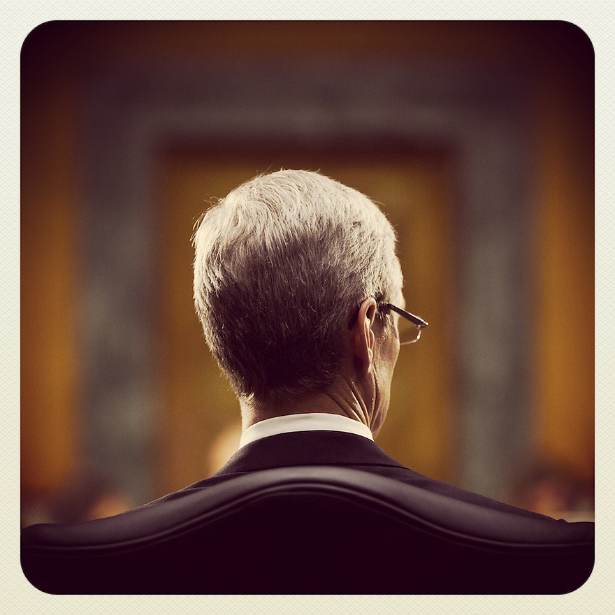 Apple CEO Tim Cook testifies at a Senate homeland security and governmental affairs investigations subcommittee hearing on offshore profit shifting and the U.S. tax code, on Capitol Hill in Washington. Apple Inc's chief executive officer defended the company's tax record during a Senate hearing where lawmakers said the maker of iPads, iPods and Mac computers kept billions of dollars in profits in Irish subsidiaries to avoid U.S. taxes.  He was joined by Apple's Head of Tax Operations Philip Bullock ®  and CFO Peter Oppenheimer (L).