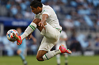 SAINT PAUL, MN - MAY 1: Cecilio Dominguez #10 of Austin FC with the ball during a game between Austin FC and Minnesota United FC at Allianz Field on May 1, 2021 in Saint Paul, Minnesota.