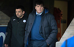 St Johnstone v Celtic…05.02.17     SPFL    McDiarmid Park<br />Tommy Wright and Callum Davidson in the tunnel<br />Picture by Graeme Hart.<br />Copyright Perthshire Picture Agency<br />Tel: 01738 623350  Mobile: 07990 594431