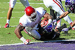 Oklahoma Sooners running back Samaje Perine (32) in action during the game between the Oklahoma Sooners and the TCU Horned Frogs at the Amon G. Carter Stadium in Fort Worth, Texas. TCU defeats OU 37 to 33.