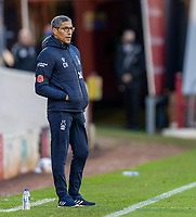 21st November 2020, Oakwell Stadium, Barnsley, Yorkshire, England; English Football League Championship Football, Barnsley FC versus Nottingham Forest; Chris Hughton of Nottingham Forrest during the first half