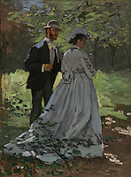 Claude Monet - The Walkers (1865). Washington, National Gallery of Art.