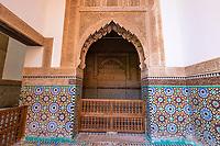 Marrakesh, Morocco.  Saadian Tombs, 16th. Century.