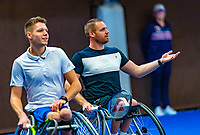 Alphen aan den Rijn, Netherlands, December 14, 2018, Tennispark Nieuwe Sloot, Ned. Loterij NK Tennis,  Wheelchair men's doubles : Maikel Scheffers (R) and  Ruben Spaargaren (NED)<br /> Photo: Tennisimages/Henk Koster