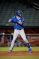 Oklahoma City Dodgers Paulo Orlando (16) at bat during a Pacific Coast League game against the New Orleans Baby Cakes on May 6, 2019 at Shrine on Airline in New Orleans, Louisiana.  New Orleans defeated Oklahoma City 4-0.  (Mike Janes/Four Seam Images)