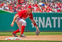 26 May 2013: Washington Nationals third baseman Ryan Zimmerman in action against the Philadelphia Phillies at Nationals Park in Washington, DC. The Nationals defeated the Phillies 6-1, taking the rubber game of their 3-game weekend series. Mandatory Credit: Ed Wolfstein Photo *** RAW (NEF) Image File Available ***