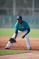 Kellen Ward (67), from Montgomery, Alabama, while playing for the Mariners during the Baseball Factory Pirate City Christmas Camp & Tournament on December 30, 2017 at Pirate City in Bradenton, Florida.  (Mike Janes/Four Seam Images)