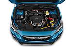 Car Stock 2020 Subaru Crosstrek Hybrid 5 Door SUV Engine  high angle detail view