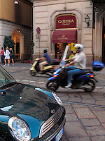 Godiva Chocolatier shop, Montenapoleone district, Milan, Ital