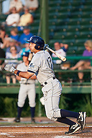 Reid Fronk (17) of the Charlotte Stone Crabs during a game vs. the Daytona Cubs June 1 2010 at Jackie Robinson Ballpark in Daytona Beach, Florida. Charlotte won the game against Jupiter by the score of 4-1.  Photo By Scott Jontes/Four Seam Images