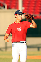 September 14, 2009:  A.J. Vanegas, one of many top prospects in action, taking part in the 18U National Team Trials at NC State's Doak Field in Raleigh, NC.  Photo By David Stoner / Four Seam Images