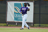 Western Carolina Catamounts right fielder Immanuel Wilder (7) catches a fly ball during the game against the St. John's Red Storm at Childress Field on March 12, 2021 in Cullowhee, North Carolina. (Brian Westerholt/Four Seam Images)