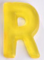 Yellow Gummi Letter
