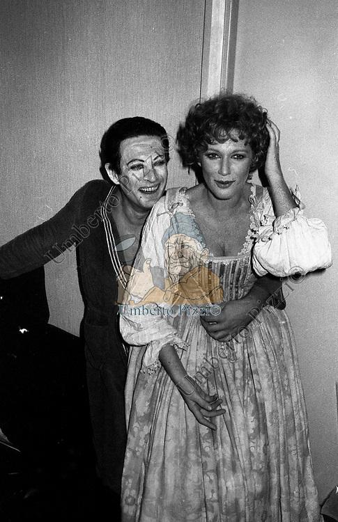 """CARLA GRAVINA CON PINO MICOL<br /> """"LA LOCANDIERA"""" TEATRO ARGENTINA ROMA 1986"""